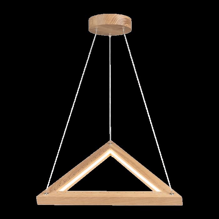 Legno Trójkąt lampa wisząca drewniana dąb olejowany LED