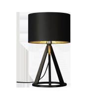 VICTORIA Lampa stołowa drewniana czarna